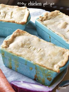 Individual chicken pot pies are not only cuter, they have a much better crust-to-filling ratio.