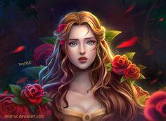Belle - Beauty and the beast, TiNy Truc on ArtStation at https://www.artstation.com/artwork/gqGAE