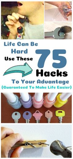 Life can be hard. These genius life hacks will make life so much easier.  #lifehacks #DIY