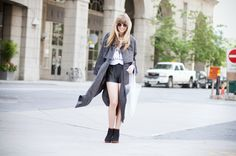 """Lisa from """"just another fashion blog"""" in MINIMARKET trench coat and boot della"""