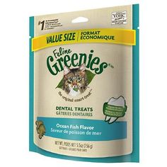 Feline Greenies Dental Treats, Ocean Fish 5.5 oz(pack of 2) *** To view further for this item, visit the image link. (This is an Amazon affiliate link)
