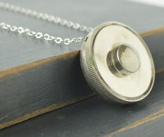 French Horn Rotary Valve Necklace by HangUpsinKC on Etsy