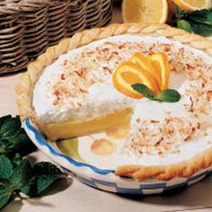 Frosted Orange Pie Recipe ~ Taste of Home