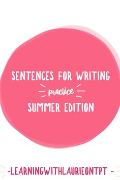 Sentence for writing practice worksheets and story starter worksheets, will get your students writing sentences to practice writing, during the active Summer season. Writing Sentences, Sentence Writing, Life Skills Classroom, Special Education Classroom, Writing Practice Worksheets, Story Starters, Teaching Language Arts, Summer School, Social Skills