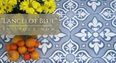 "In-Stock ""Lancelot Blue"" Cement Tile"