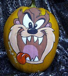 Halloween Pumpkin Ideas: Tazmanian Devil Painted Pumpkin Photo
