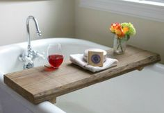 Easy to Make Reclaimed Wood Bath Caddy | eHow