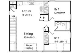 Add 6u0027 To The Bedrooms. Two Bedroom Carriage House   2240SL | Carriage,  Narrow Lot, 2nd Floor Master Suite, CAD Available, PDF | Architectural  Designs