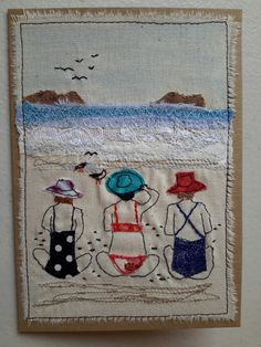 """This, that and everything inbetween: My """"free range"""" art cards Freehand Machine Embroidery, Free Motion Embroidery, Embroidery Applique, Fabric Cards, Fabric Postcards, Small Quilts, Mini Quilts, Quilting Projects, Sewing Projects"""