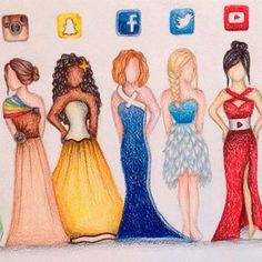 Resultado de imagem para desenhos de vestidos tumblr