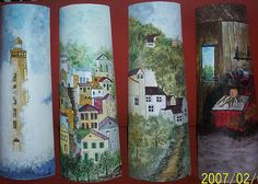 рисунок на черепице (500x356, 154Kb) Roof Tiles, Arts And Crafts, Hand Painted, Artist, Painting, Slate, Decoration, Home Decor, Party