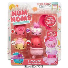 Num Noms Scented Starter 4-Pack - Triple Berry Cupcake  HTF! #MGA