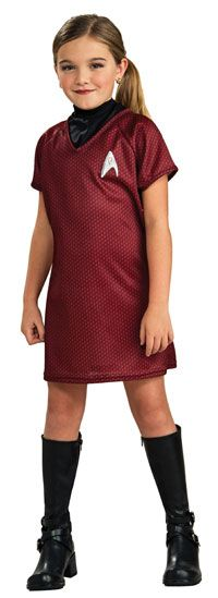 Girls Costumes - This Child Standard Star Trek Red Uhura Costume from the Star Trek Movie includes the dress, attached dickie and screen printed emblem. Summer Workout Outfits, Stylish Summer Outfits, Winter Outfits For Girls, Summer Dress Outfits, Uhura Costume, Star Costume, Costume Dress, Tween Costumes, Halloween Costumes For Kids