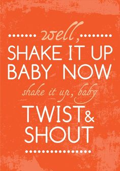 The Beatles Poster Music TWIST & SHOUT Poster by PeanutoakPrint