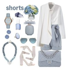 """""""look shorts fashion inspire"""" by licethfashion ❤ liked on Polyvore featuring Jill Stuart, WithChic, MANGO, STELLA McCARTNEY, Chanel, Diane James, Judith Ripka, Tommy Bahama, Essie and Les Parfums De Rosine"""