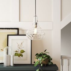 Birch Lane™ Heritage 1 - Light Single Teardrop Pendant & Reviews | Wayfair
