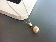 Freshwater pearl silver necklace bridal jewellery by Bleuberie, $25.00