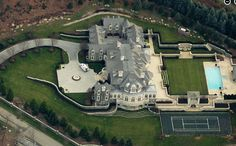 Here are some updated aerial pics from Bing Maps of the square foot Stone Mansion located in Alpine, NJ. There is no updated pic of the front of the home on Bing Maps, so Mega Mansions, Mansions For Sale, Mansions Homes, Stone Mansion, Dream Mansion, White Exterior Houses, Million Dollar Homes, Luxury Homes Dream Houses, Big Houses