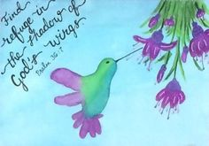 Hummingbird Print  Encouragement Print by SeeSkyDesigns on Etsy