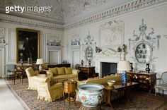 The lavish plasterwork decoration of the Drawing Room, or Saloon as it was called in the later eight - gettyimageskorea