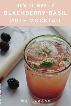 mocktails If you enjoy Moscow Mules, you'll love this blackberry-basil mule. Healthy Cocktails, Non Alcoholic Drinks, Summer Drinks, Fun Drinks, Liquor Drinks, Bourbon Drinks, Craft Cocktails, Camping Drinks, Mixed Drinks