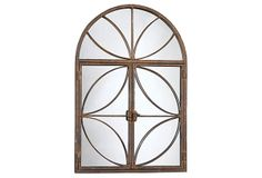 Arch Mirror with Doors, Rust on OneKingsLane.com