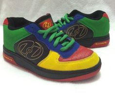 HEELYS Boys 3 Girls 4 Shoes Red Yellow Blue Black Unisex NO WHEELS OR PLUGS Worn #Heelys #CasualShoes