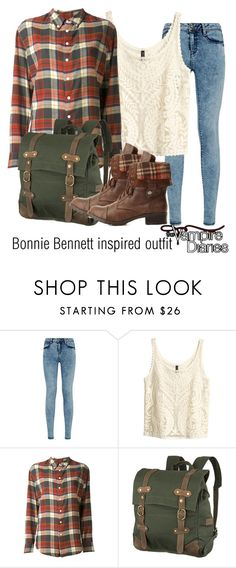 """""""Bonnie Bennett inspired outfit/TVD"""" by tvdsarahmichele ❤ liked on Polyvore featuring H&M, Band of Outsiders, United by Blue and Charlotte Russe"""