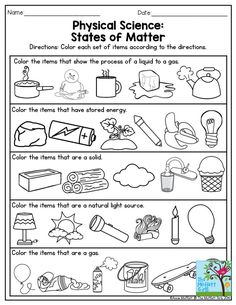 Physical Science: States of Matter. This is a great exercise for Third Grade. … Physical Science: States of Matter. This is a great exercise for Third Grade. Also, there are many other fun activities in the NO PREP Packet for May! Primary Science, Kindergarten Science, Elementary Science, Physical Science, Science Classroom, Teaching Science, Science Experiments, Physical Exercise, Science Ideas