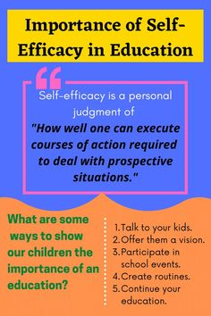 "I sometimes ask myself why so many students show low interest in reading, learning, and education. Wikipedia defines self-efficacy as a personal judgment of ""how well one can execute courses of action required to deal with prospective situations."" In education, we use this term to describe a high or low interest shown by students towards education. Define Self, Show Low, Us School, Skills To Learn, Learning Skills, Self Efficacy, English Language Learners, Better One, Talking To You"