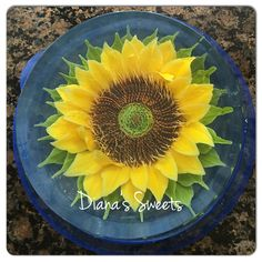 Sunflower gelatin jello Art by Diana's Sweets