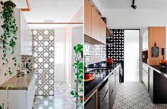 Decoração com tijolo cobogó - Luiza Gomes Divider, Loft, Furniture, Lemon, Home Decor, Laundry Room Small, Houses, Trendy Tree, Interiors