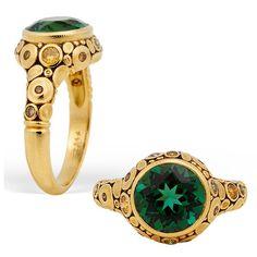 Alex Sepkus 18k and Green Tourmaline Ring