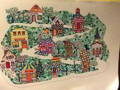 Fantasy village #zentangle