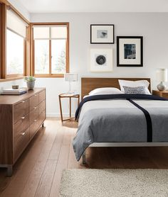 Simple and modern bedroom space