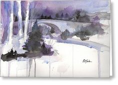 """""""Casselman in Winter""""  Available in cards and prints at Fine Art America"""