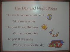 Day and night poem for space unit