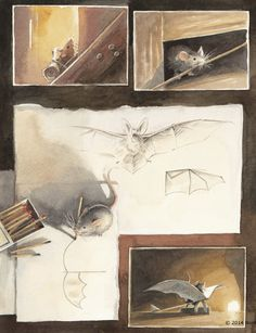 Illustrations of the Incredible Adventures of a Flying Mouse. To see more art and information about Torben Kuhlmann click the image.