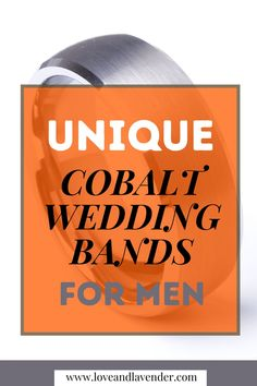 Cobalt men's wedding bands look stylish and unique. Cobalt chrome is a popular material for men's wedding bands as they are hypoallergenic and durable. If you are looking for cobalt rings that are unique, check this pin from LoveandLavender for some interesting ideas. #Cobaltrings #Cobaltweddingbands #Mensweddingbands #Uniqueweddingbands