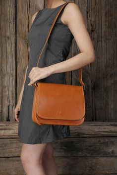 Leather sling bag $55 dark brown | Things I want | Pinterest ...
