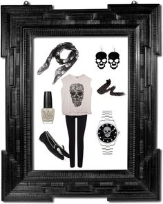 """Skull me!"" by psuetani on Polyvore"