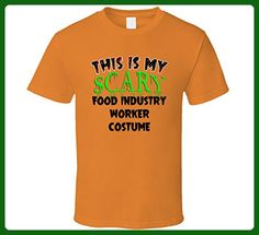 This is My Scary Food Industry Worker Halloween Costume Trending Job T Shirt 2XL Orange - Food and drink shirts (*Amazon Partner-Link)