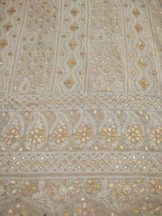 Chikankari Embroidery Designer Fabric