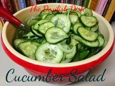 THE DEVILISH DISH: Cucumber Salad