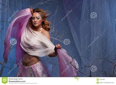 Elf Woman Dancing In Magical Forest - Download From Over 28 Million High Quality Stock Photos, Images, Vectors. Sign up for FREE today. Image: 25165837