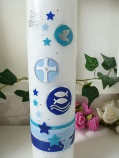 For candle-no longer accept for the and -For appointments before the mentioned dates please ask before purchase if this is feasible.-We work on appointments Baptism candle **Size/Dimensions/Weight on Picture** 265 x 60 mm pointed head- white Model: Baptism Candle, Christening, Embellishments, Candles, Make It Yourself, Etsy, Prints, Appointments, Light Blue