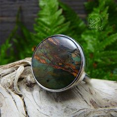 Sterling Silver Ring Boho Jewelry Nature Ring Agate Ring