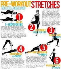 Image result for pre workout stretches for women