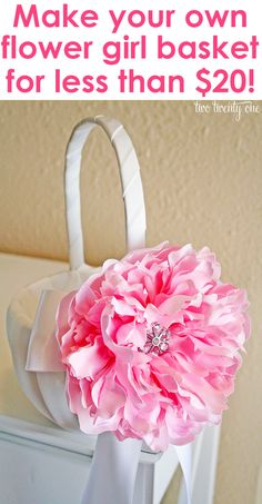 One of the things I semi-DIYed for our wedding was our flower girl basket. While I can appreciate the plain white baskets, I wanted to add a little flavor to the basket our flower girl would be carrying. Dollar Tree Gifts, Dollar Tree Wedding, Diy Wedding Projects, Wedding Hacks, Wedding Favors Cheap, Flower Girl Basket, Diy Flowers, Fake Flowers, Flower Ideas