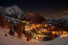 Foppolo by Night, Italy